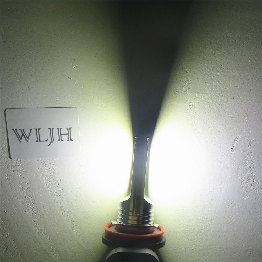 WLJH 2x LED H11 Fog Lights Bulb Car H11 Driving Daytime Running Lamp Light 1500LM LED For Chevrolet Camaro COBALT Malibu HHR