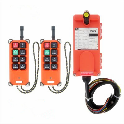 AC380V 2 transmitter and 1 receiver F21-E1 Industrial Wireless Universal Radio Remote Contro Swtichl for Overhead Crane wholesales f21 e1 industrial wireless universal radio remote control for overhead crane dc24v 1 transmitter and 1 receiver