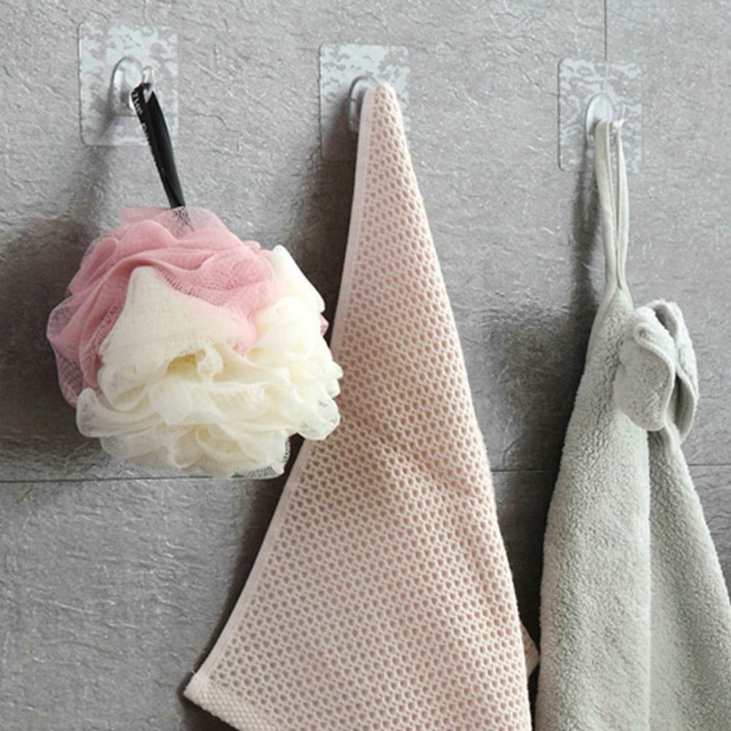 Anti-skid Hooks Reusable Transparent Wall Hangers 1//6//12pcs
