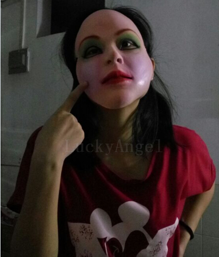 фото девушек в латосной маски
