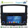 "Quad Core 7 ""1024*600 2Din Android 5.1.1 Dvd-плеер Автомобиля Fm-радио DAB + 3 Г/4 Г, WIFI, GPS карта Для Mitsubishi Pajero V97 V93 2006-2016"