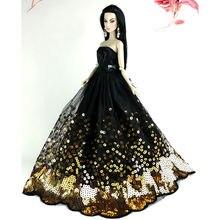 Saleaman Incroyable Or Paillettes Noir Robe Fit pour Barbie Poupée Enfants Cadeau poupée Robe Cadeau D'anniversaire Robe pour Barbie poupée