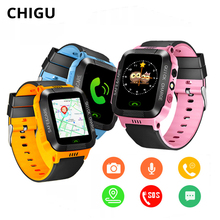 Chigu Y21S Smart Watch Kids Waterproof Sport Watch 1.44 Touch Screen SIM Card LBS SOS Call Baby Smartwatch with Camera chigu белый цвет