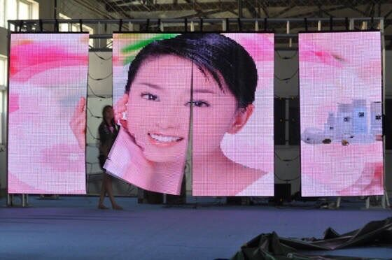 product http://www.fullcolorled-display.com/ 16m Pixels Curve LED Screen flexible curtain LED soft LED display Led video wall