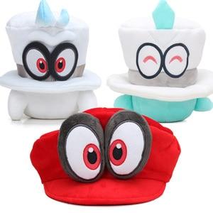 20-22cm Super Mario Odyssey Plush Toy Super Mario Bros Odyssey Cappy Hat Cap Head Cosplay Party Hat Soft Stuffed Animal Dolls(China)
