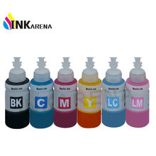 6 Warna 70 Ml Tinta Dye Tinta Isi Ulang Kit T6731 T6732 T6733 T6734 T6735 T6736 untuk Epson L800 L801 L810 l850 L1800 Printer Eco Tank Tinta(China)