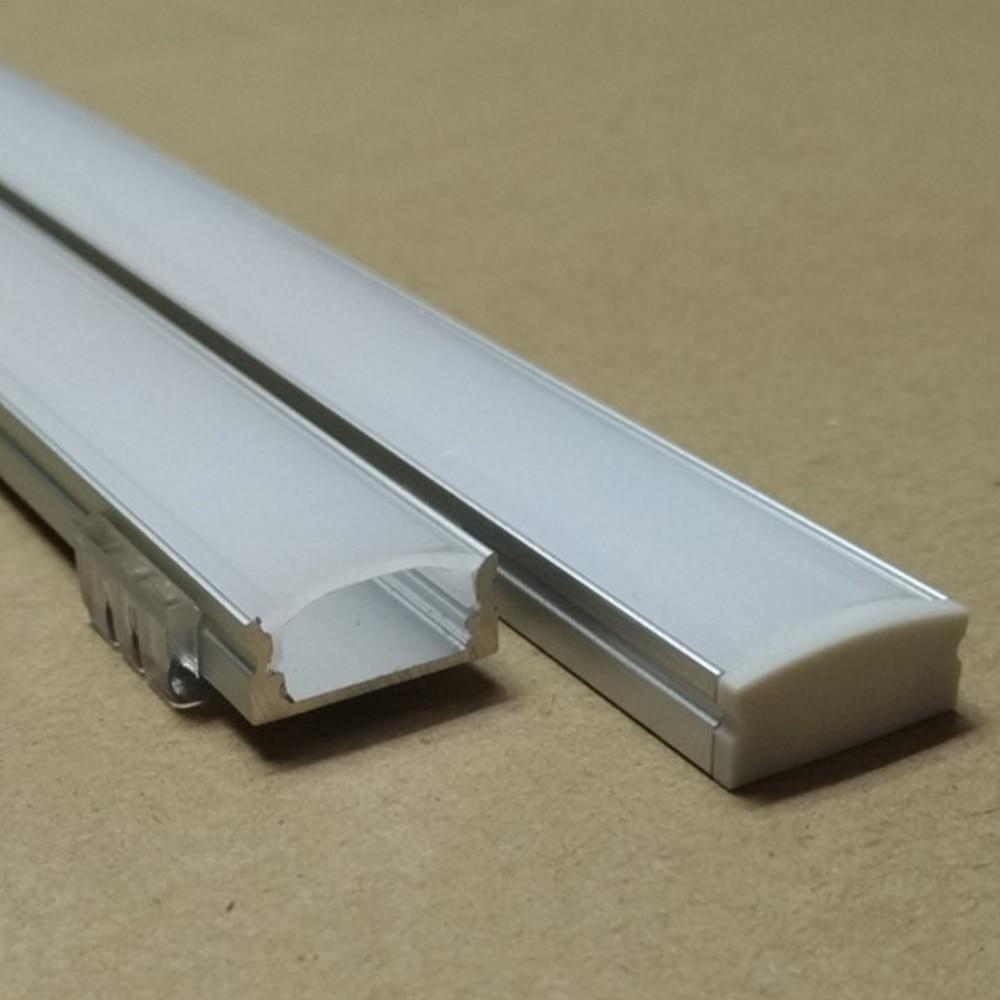 20m (10ks) hodně, 2m na kus, led hliníkový profil SN1707 pro šířku 12mm nebo pod led pásy