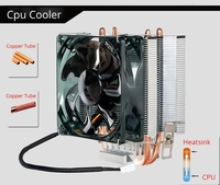 90mm fan cooling CPU Cooler processor cooling aluminum radiator copper heatpipe for computer i7 8700K processor AM4 AM3+ AM2