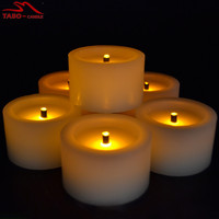 Battery Powered Unscented Flickering Flameless LED Tea Light Candle Fake Candle Realistic Candle Effect