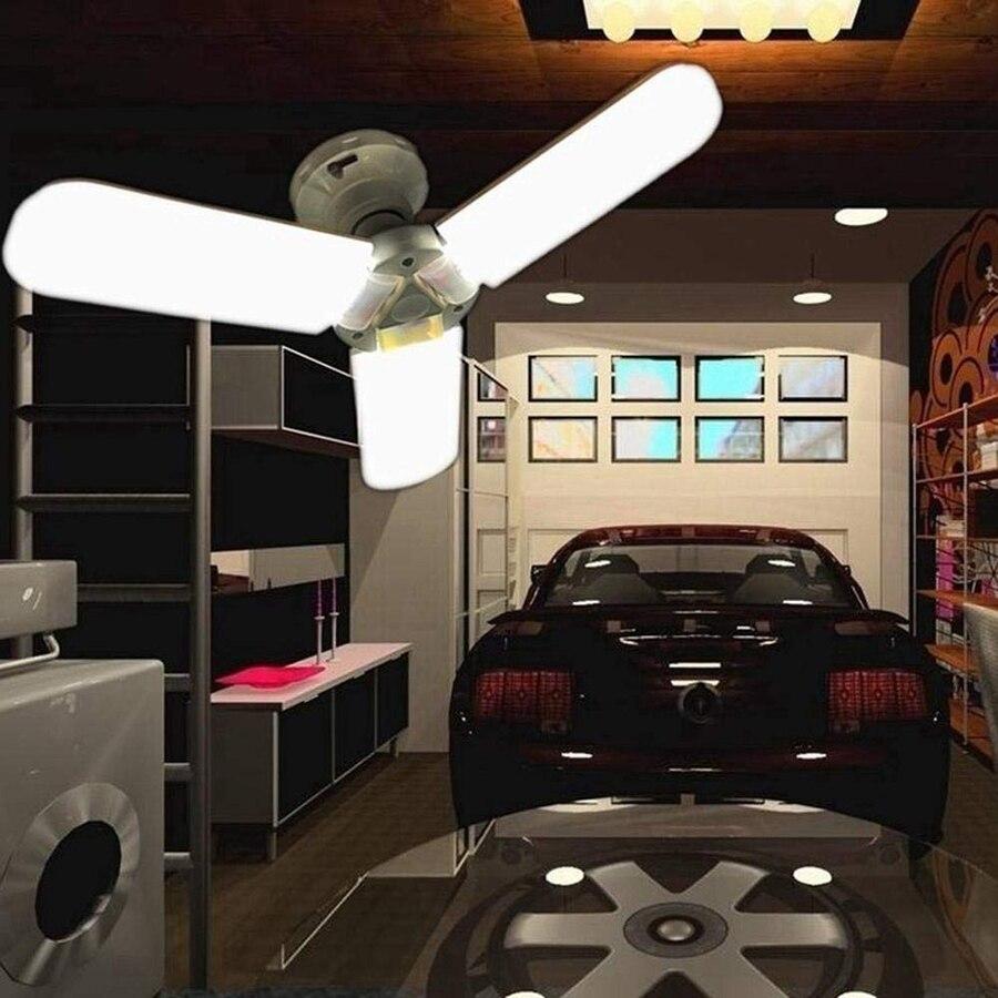 Купить с кэшбэком Super Bright E27 E26 B22 85-265V 45W Deformable LED Garage Ceiling Lights Led Shop Lights Factory Warehouse Industrial Lighting