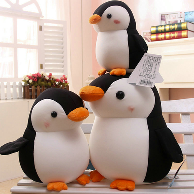 20-35cm High Quality Penguin Stuffed Nanoparticle Black/Gray Bird doll Christmas present Penguin plush Toys animals kids toys термокружка penguin bk 72 400ml black