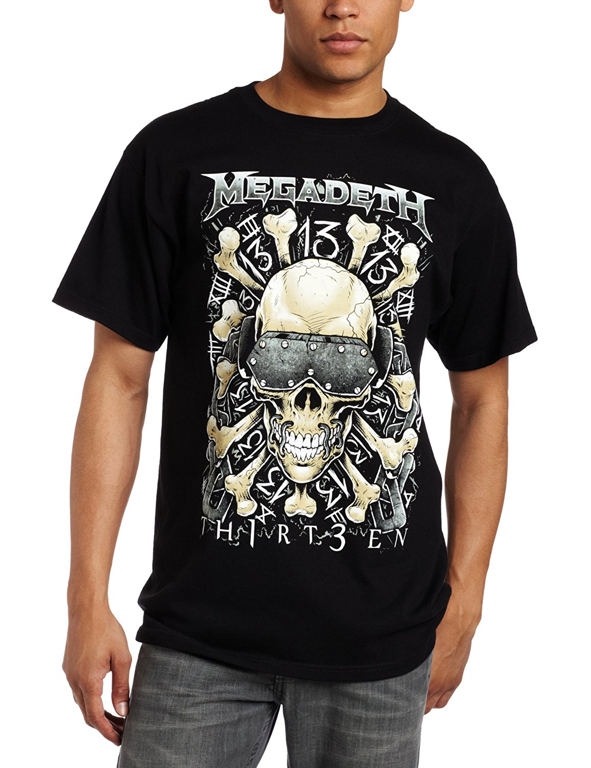 FEA Merchandising Mens Megadeth Red Bones T-Shirt