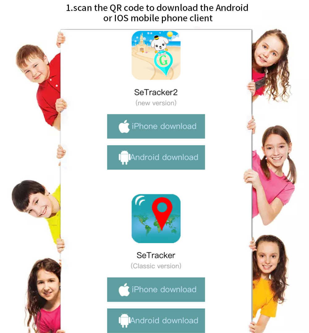 The Safe™ The Best Waterproof SmartWatch GPS Tracker for Kids
