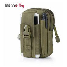 Hommes sacs de Voyage En Nylon Imperméable Téléphone Mobile Porte-Monnaie Mini Sac de Taille D30 Portable Militaire Ceinture Taille Sacs