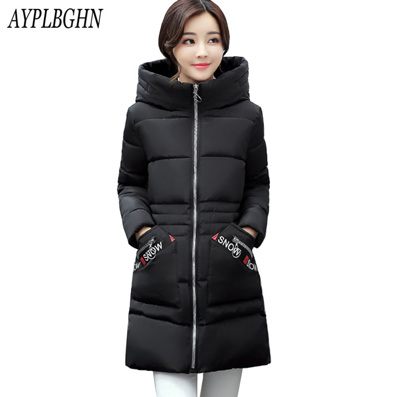 high quality New Winter Women Cotton Jacket Plus Size Long Thick Parkas Female Hooded Cotton Padded Fashion Warm Coat Outerwear 2017 winter women long hooded cotton coat plus size padded parkas outerwear thick basic jacket casual warm cotton coats pw1003