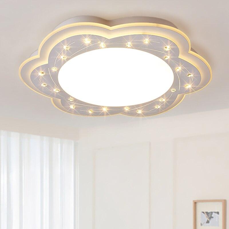 Children lamp Bedroom lamp simple modern warm romantic light LED ceiling light crystal lamp ZH ET56