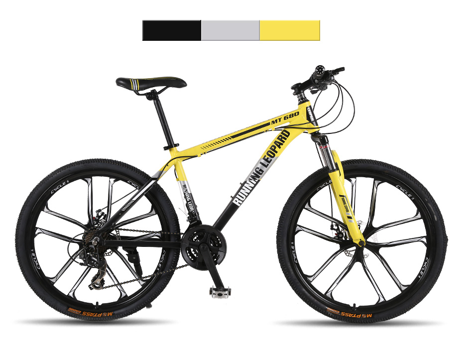 HTB1MN1phgHqK1RjSZFEq6AGMXXaH Running Leopard mountain bike 26-inch steel 21-speed bikes double disc brakes variable speed road bikes racing bike