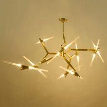 6/10/14/18 /20Heads Modern LED chandelier for dinning room living room lampadario Black / Glod Chandelier Lighting AC85-265V