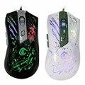 Проводная Оптическая Мышь 7 Цветов СВЕТОДИОДНОЙ Подсветкой Мышь 6 Кнопок Регулируемая 1200-3200 ТОЧЕК/ДЮЙМ USB2.0 Игры Игровые Мыши для Mac Портативных ПК