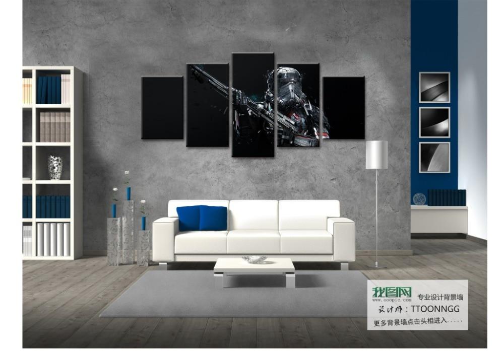 5 Panel Modułowa Abstrakcyjne Malowidła ścienne Movie Star Wars