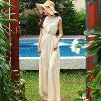 Customize Women Summer Fashion Plus Size 3XS-10XL Elegant Retro Vintage Maxi Long Sleeveless Chiffon Dress Vestido Longue Female