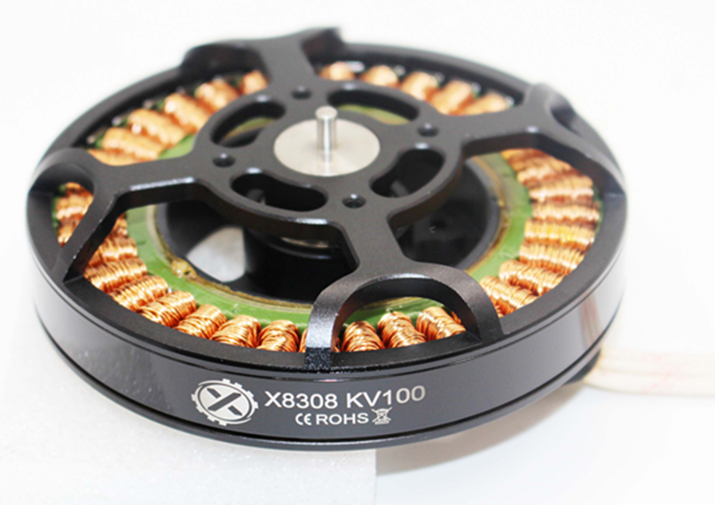 1PCS Agricultural brushless motor X8308 multi-axis plant protection cruise patrol aerial motor long time yuenhoang 6215 brushless motor black kv170 kv340 multi axis disc motor for uav plant agricultural protection aircraft quadcopter