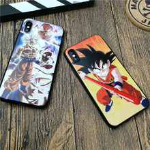 Dragon Ball Anime GOKU case for iPhone X XS MAX XR 10 8 7 6 6S plus soft matte silicone Emboss phone cover Coque fundas цена и фото