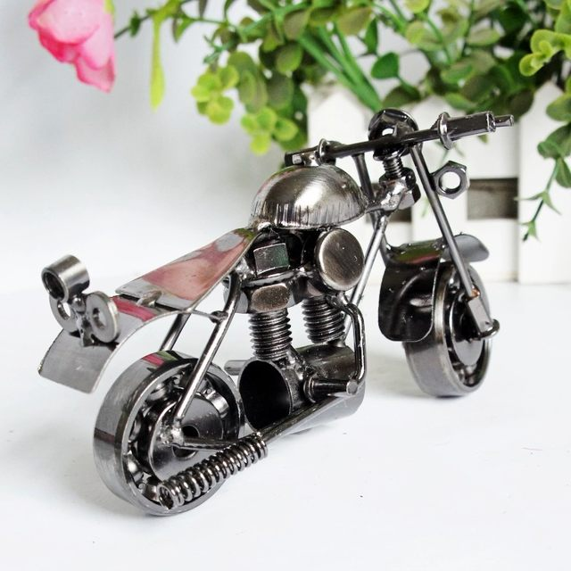 creative metal motorcycle model iron motorbike miniature ornaments home decoration crafts christmas gift toy furnishing articles
