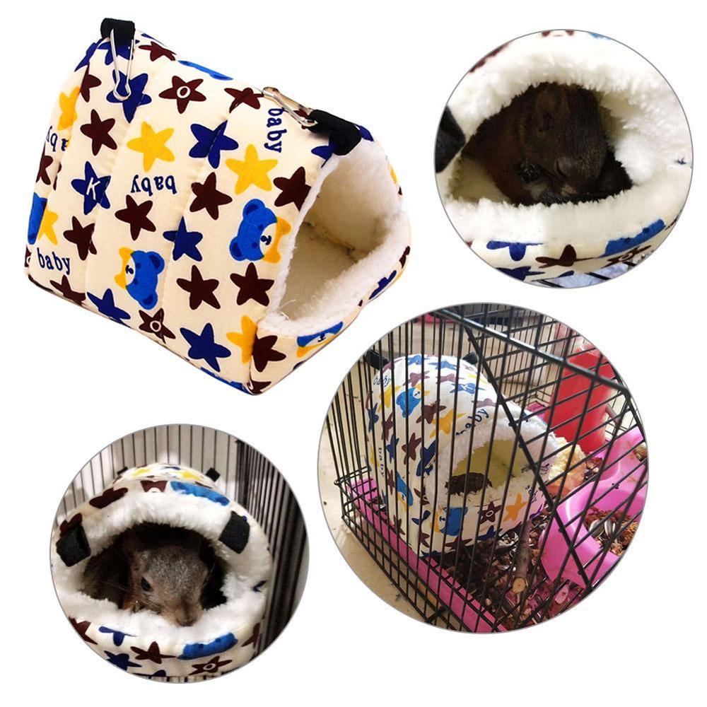 Pequeño animal lindo jaulas de conejo para mascotas Hamster casa Cama rata Qquirrel Guinea invierno colgante y cálido jaula nido de hamsters Hogar automático continua ratonera reutilizable gran trampa para ratones jaula de roedores de gran efecto
