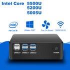 New Desktop Mini PC Intel Core i7 5500U i5 5200U i3 5005U Processor Windows 7/8/10 Linux HDMI VGA 300M WiFi Nettop Minipc