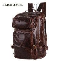 Высококачественные мужские рюкзак масло воск Пояса из натуральной кожи многофункциональный дизайн Повседневное Дорожные сумки Mochila