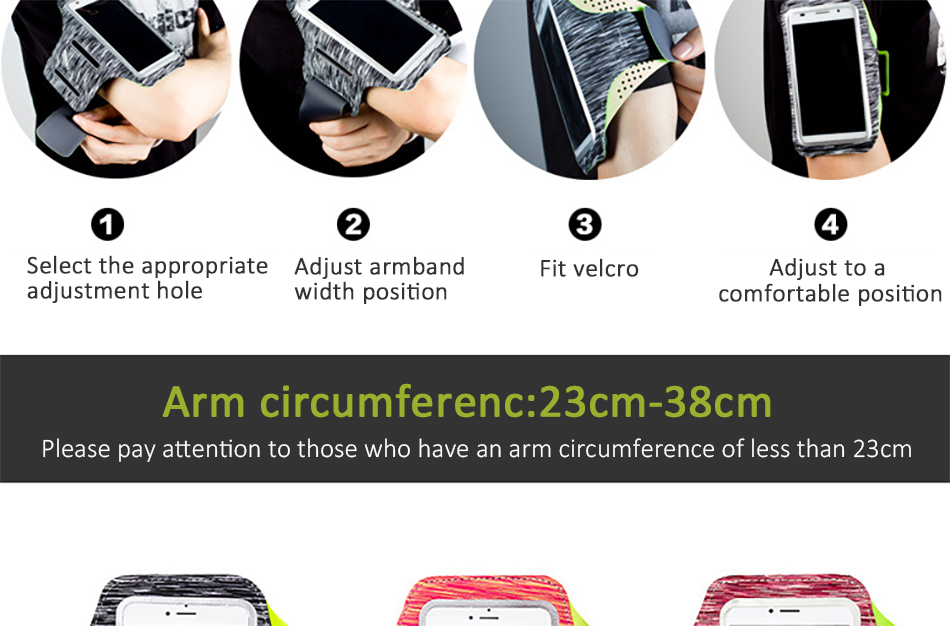 !ACCEZZ Sport Running Armbands Holder 4.75.8 inch For Oneplus 5 iPhone 7 6 8 Plus Xiaomi 6 Phone Pouch Gym Cover Arm Band Cases (5)