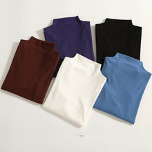 GIGOGOU media-Camiseta de manga de estilo coreano para mujer, camiseta 2019 de algodón ajustada, camiseta para mujer 3XL 95%