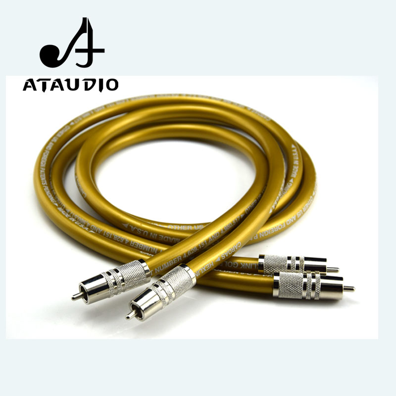 ATAUDIO One Pair Hifi Cardas RCA Cable Pure OCC HIFI RCA interconnect cable