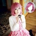 OHCOS Personagem de Anime Noragami Kofuku Ebisu Cosplay Peruca Rosa Rosa Curto Encaracolado Cosplay Perucas