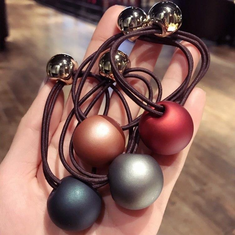 Korea Hair Accessories Big Colorful Ball Headband For Women Hair Ties Gum for Hair Bows Scrunchy Fascinator-f