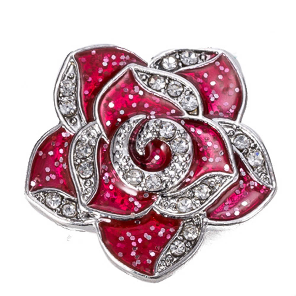 Кнопки 18 мм Металлические Кнопки для защелки браслетов подходят к украшение в форме имбирного печенья заколка-цветок TZ9090