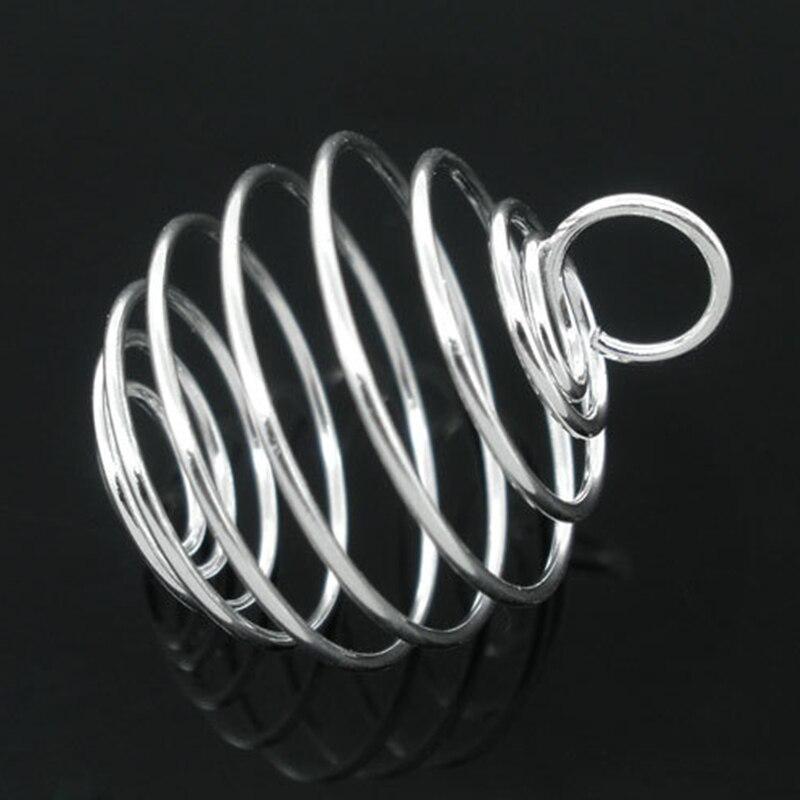 1000 stücke Anhänger Silber Überzogene Spirale Perlen Käfige Runde Metall Schmuck DIY Erkenntnisse Charms 20x25mm-in Anhänger aus Schmuck und Accessoires bei  Gruppe 3