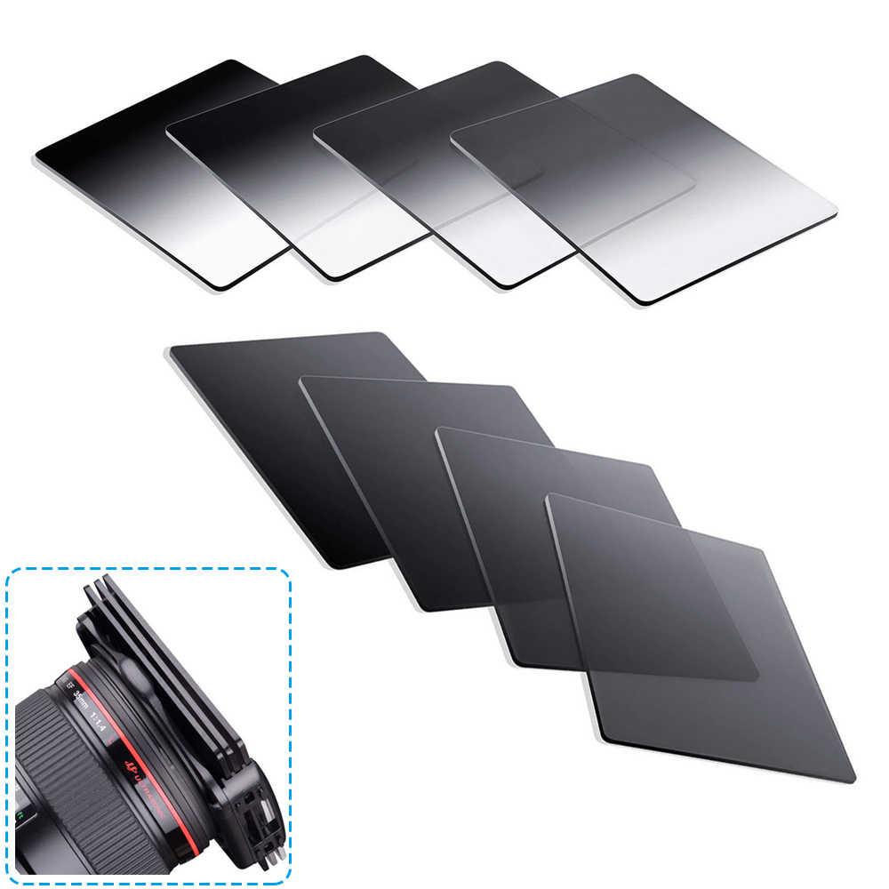 สำเร็จการศึกษาสีเทาสีสแควร์ ND2 ND4 ND8 ND16 Neutral Density Filter สำหรับ Cokin P Series ชุดสำหรับกล้อง DSLR