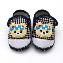 Cute Baby Boy Girl Shoes Cartoon Bear Head Casual Shoes Houn