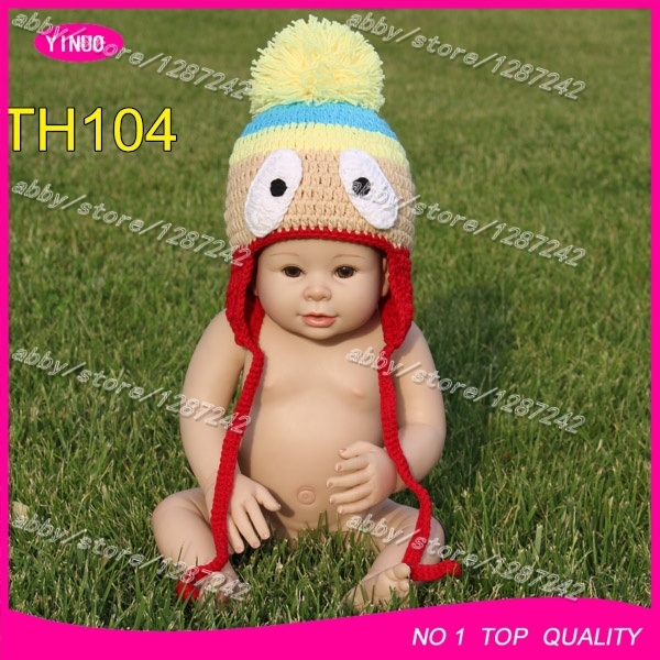 Free Crochet Patterns Baby Hats Outdoor Pom Pom Beanie Yellow Neon