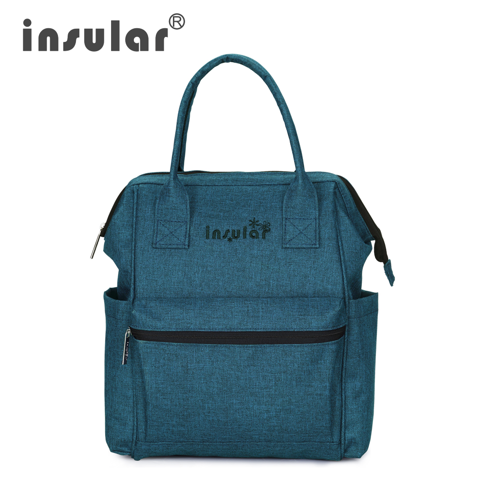 Insular Fashion Baby Diaper Backpack Premium Quality Stroller Hanging Bag Casual Solid Color Multifunctional Usage Mummy Bag
