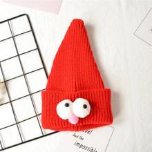 Chirstmas Invierno Caliente niños de dibujos animados bebé tapas grandes  ojos sombreros hechos punto sombrero lindo 1ecc69559cd