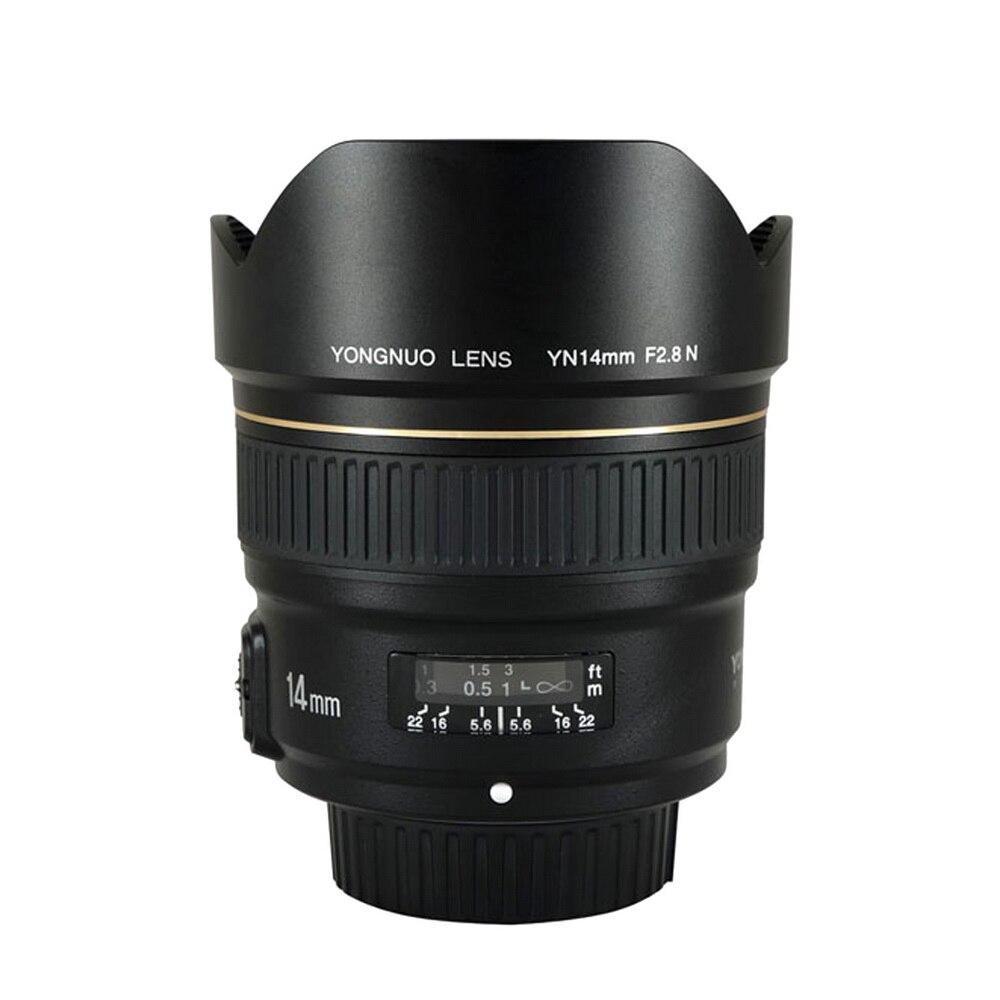 YONGNUO 14 мм F2.8 ультра-широкоугольный объектив с фиксированным фокусным расстоянием YN14mm автоматической фокусировки AF MF металлический байонет ...