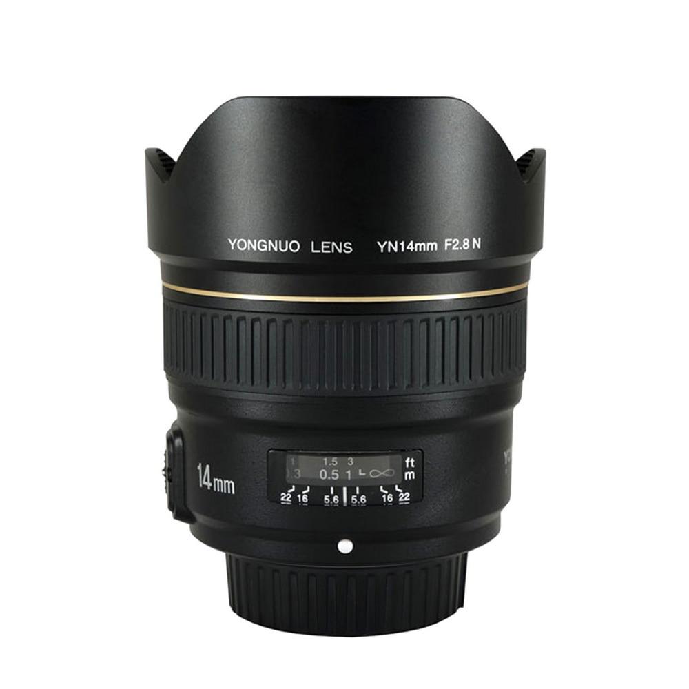 YONGNUO 14mm F2.8 Ultra-ampio Angolo di Obiettivo Primario YN14mm Messa A Fuoco Automatica AF MF Metallo Mount Lens per Nikon d5300 d3400 d3100 d200 d810