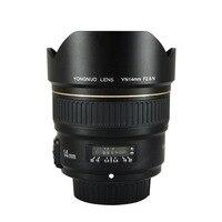 Yongnuo 14mm f2.8 ultra-amplo ângulo prime lente yn14mm foco automático af mf metal montagem lente para nikon d5300 d3400 d3100 d200 d810