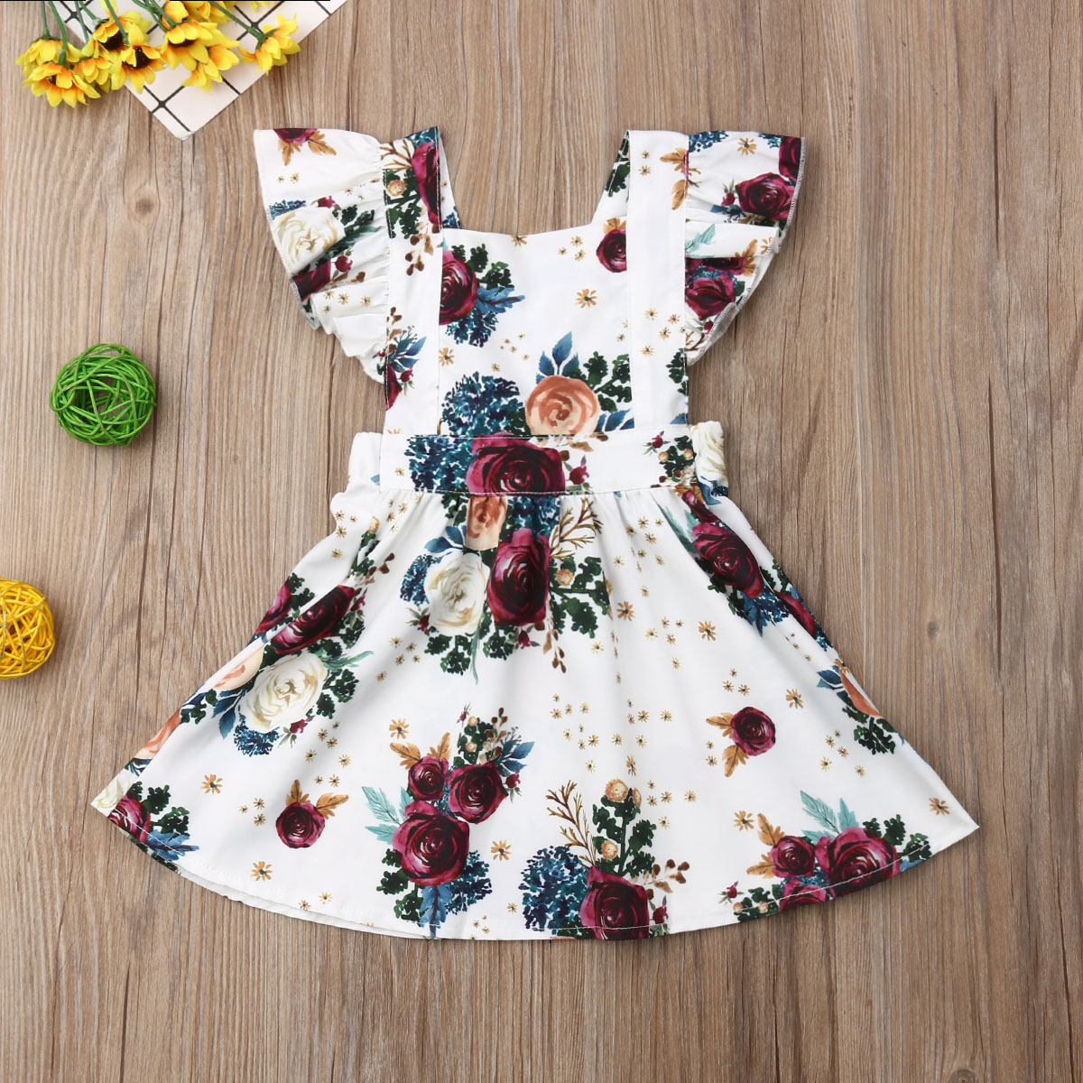 Boomboom Baby Girls Summer Dress 2018 Girls Clothes Cute White Fairy Tale Cartoon Princess Dress