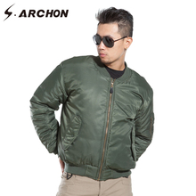 S.ARCHON MA1 Air Force Military Bomber Jacket Men Winter Warm Tactical Pilot Jacket Coat Padded Windproof Motorcycle Army Jacket