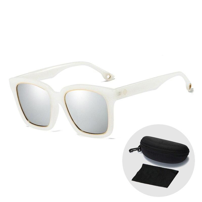 De Goedkoopste Prijs Hoge Kwaliteit Merk Designer Plein Oversize Zonnebril Voor Vrouwen Retro Vintage Gepolariseerde Rijden Zonnebril Mannen Met Zip Case Versterkende Taille En Pezen