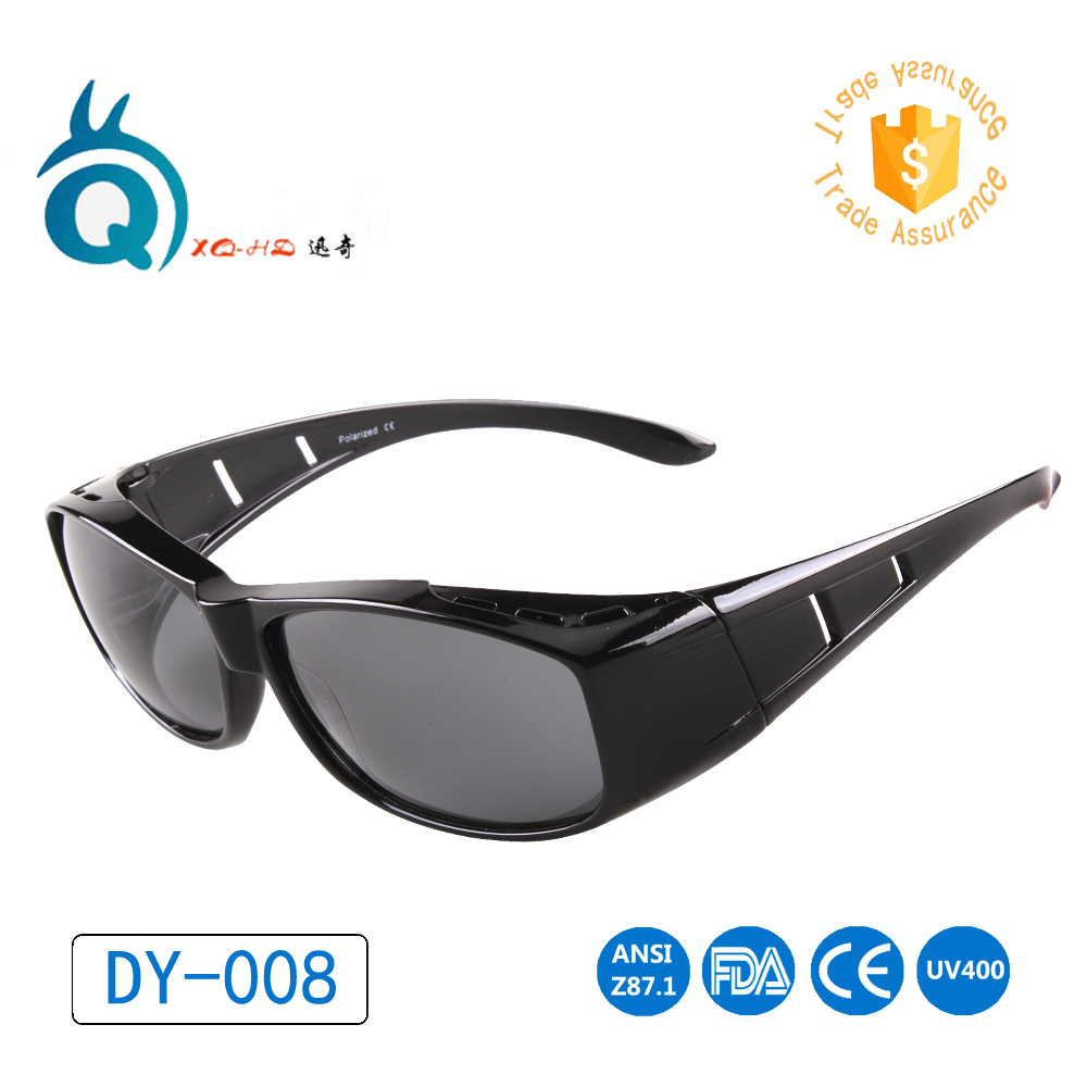 de2048d13d Solar Shield Over Glasses Fits Most myopia glasses Polarized sunglasses  free shipping man women cover prescription glasses UV400-in Cycling Eyewear  from ...